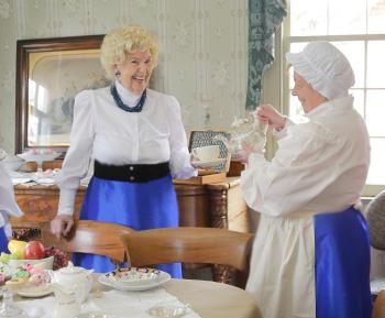 Linda Calder Pouring Tea